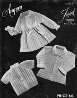 vintage baby knitting pattern from 21940s for angora jackets