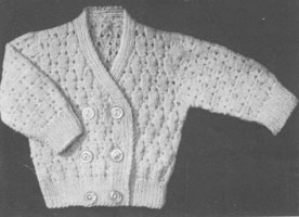 baby jacket knitting pattern from late 1940s