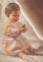 vintage knitting pattern for layette from late 1940s