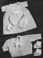 vintage baby set knitting pattern from late 1940s
