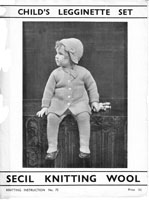 vintage 1930s pram set or outdoor set knitting pattern