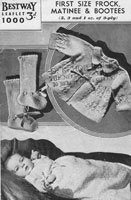 vintage baby matinee and dress knitting pattern bestway 1000 1940s