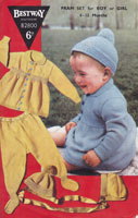 60c215e91 Vintage Baby Pram Suit Knitting Patterns from The Vintage Knitting Lady