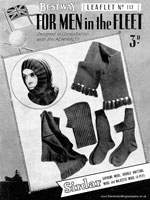 vintage service mens knitting pattern 1940