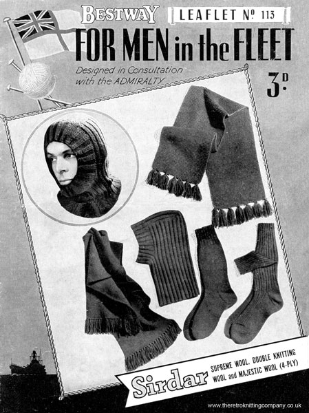 Vintage Knitted World War 2 knitting patterns available from The ...