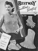 vintage ladies service knitting patterns 1940s