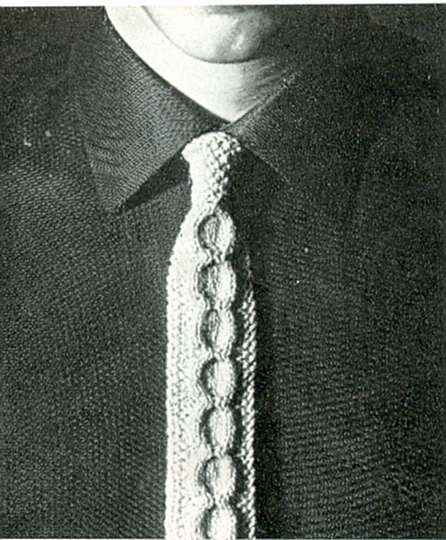 Knit Tie Patterns : Vintage Knitted Weird and Wonderful knitting patterns available from The Vint...
