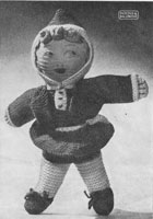 vintage knitting pattern knitted doll