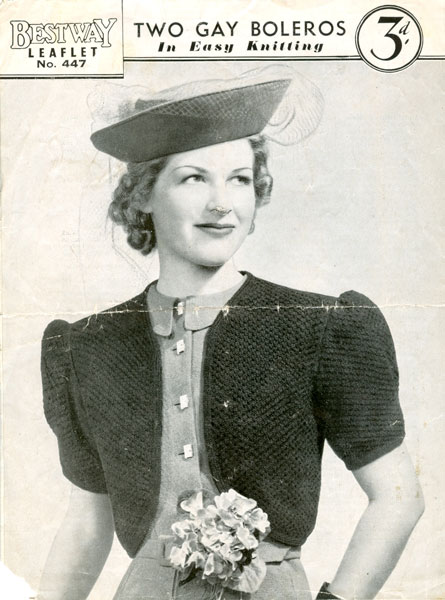 Vintage Knitting Pictures : Vintage ladies bolero knitting patterns available from the