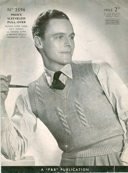 Old Knitting Pictures : Vintage mens knitting patterns available from the