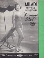 vintage bathing costume knitting pattern for ladies 1940s