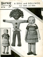 vintage Bestway toy pattern golly and doll