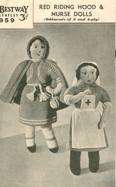 Knitting Pattern For Nurse Doll : Vintage knitted dolls clothes patterns available from The Vintage Knitting Lady