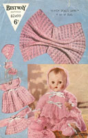 Vintage dolls layette knitting pattern