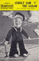 Wartime WW2 RN Sailor sewed toy sewing pattern 1940s