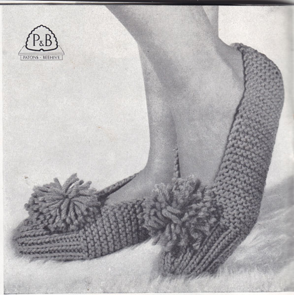 Vintage Knitting Patterns : ... Slippers knitting patterns available from The Vintage Knitting Lady