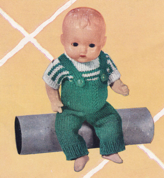 Knitting Pattern Boy Doll : Vintage knitted dolls clothes patterns available from The ...