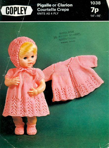 Vintage knitted dolls clothes patterns available from The Vintage Knitting Lady
