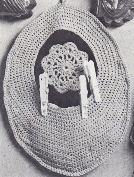 Knitting Pattern For A Peg Bag : Vintage. Crochet patterns available from The Vintage ...