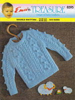 vintage babies arna style jumper knitting pattern 1960s