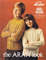 vintage childs jumper aran knitting pattern 1960s