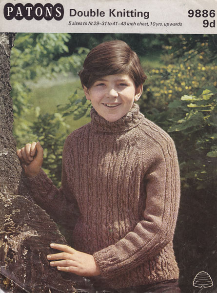 Vintage Aran knitting patterns available from The Vintage Knitting Lady