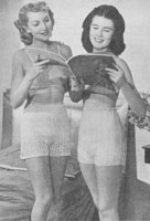 vintage ladies knitting pattern for knickers 1940s