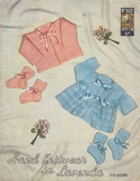 vintage baby knitting pattern 1950s maitnee jackets and bootees