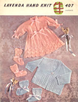 vintage baby knitting pattern matinee jackets and bootees