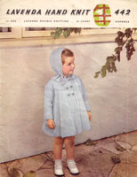 vintage baby coat and bonnet knitting pattern 1950s