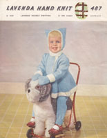 vintage lavenda baby knitting oatterb for coat and hat kittedn hood trews double knitting 1950s knitting patterns