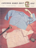 vintage baby lavenda knitting pattern matinee jackets 1950s