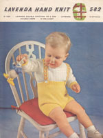 vintage bopys trouser set toddle buster suit knitting pattern 1950s lavenda