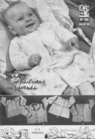 vintage baby lavenda knitting pattern matinee jackets 1940s