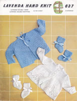 vintage baby matinee jackets knitting pattern 1950s lavenda