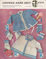vintage baby knitting pattern 1950s lavenda matinee jackets