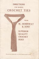 crochet ties pattern vintage
