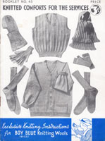 vintage world war two service garments to knit 1940s vintage knitting pattern