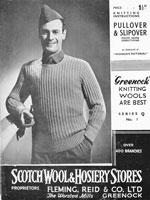 vintage soldiers or airmans slip over knitting pattern 1940s