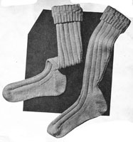 vintage knitting pattern for land army socks 1940s