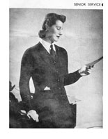 Wren war time cardigan knitting pattern 1940s