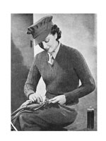 vintage ATS jumper knitting patterns 1940s