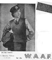 vintage waaf slipover 1940s waRT TIME KNITTING PATTERN