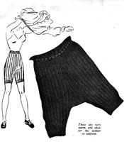 ladies service knickers knitting pattern world war 2
