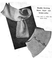 battledress under collar and scarf knitting pattern 1940s