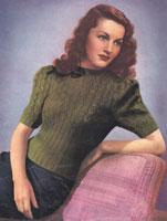 vintage ladies jumper kniting pattern from 1940s
