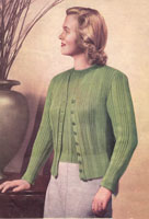 vintage knitting pattern for ladies classic twin set knittingpattern 1940s