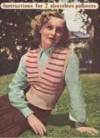 vintage knitting patter from 1940s for lip over or tank top