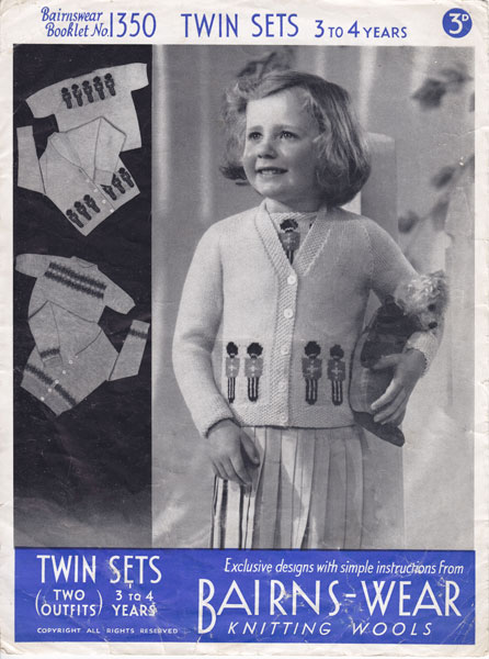 Vintage Babies And Childrens Fair Isle Knitting Patterns Available
