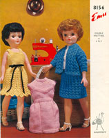 vintage doll knitting pattens